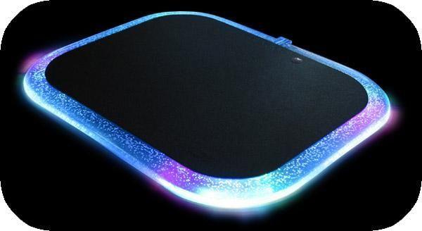 tapis de souris lumineux revoltec lightpad generation net. Black Bedroom Furniture Sets. Home Design Ideas