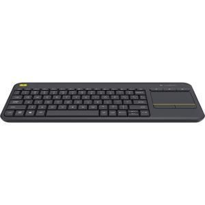 clavier logitech k400 plus sans fil connectivit rf noir 39 9 generation net. Black Bedroom Furniture Sets. Home Design Ideas